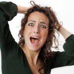 vrouw heeft stress