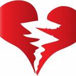 liefdesverdriet: gebroken hart