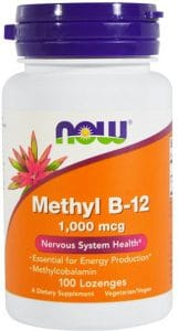 Pot met methyl 1000 mcg van Now