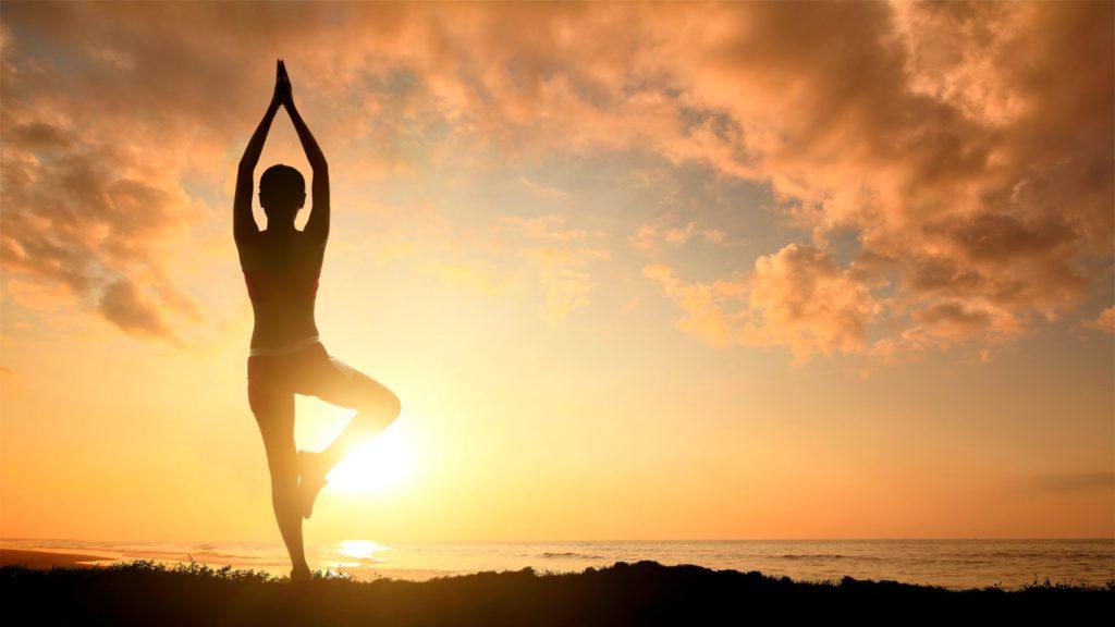 yoga met zon