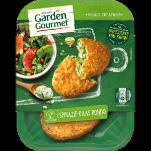 vleesvervanger zonder soja van Garden Gourmet: spinazie kaas rondo