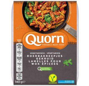vleesvervanger zonder soja Quorn roerbakreepjes gekruid