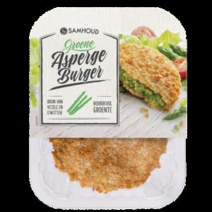 vleesvervanger zonder soja van &samhoud: aspergeburger