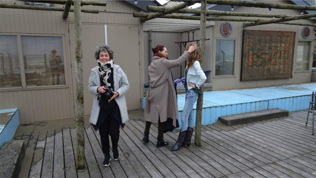 Femke de Grijs tijdens fotoshoot: styliste doet Femkes haar