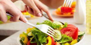 veganistisch eten: salade
