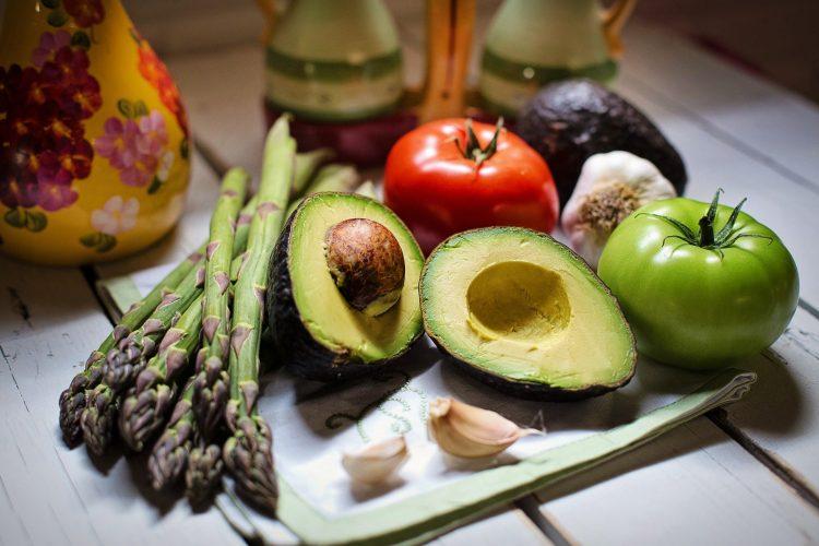 vegetarisch eten: verschillende groenten