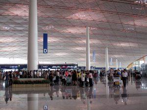 veel mensen op een vliegveld