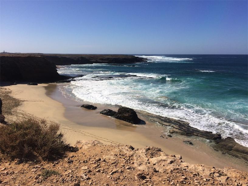 playa de los ojos in Fuerteventura