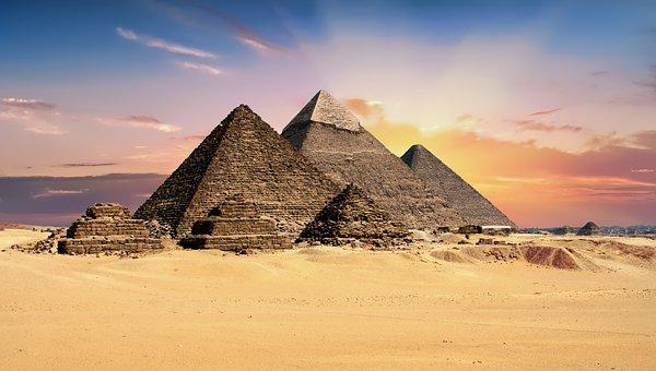piramides van Gizeh in Egypte