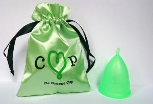 De Groene Cup met beschermhoes