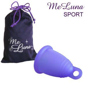 Me Luna sport menstruatiecup met beschermhoes