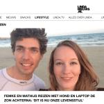 Femke de Grijs en Mathijs van der Beek op de website van LINDAnieuws.nl