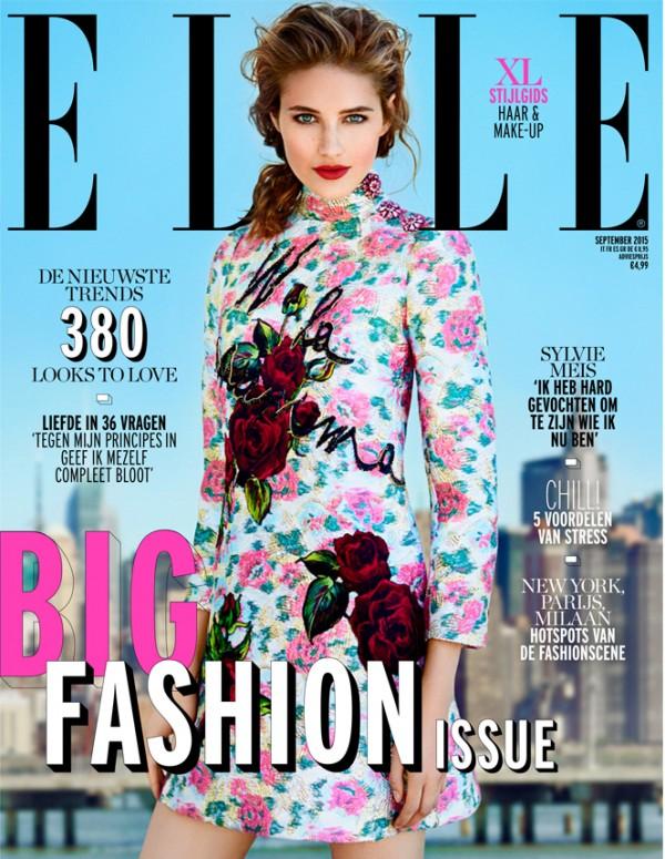 voorkant van het tijdschrift Elle dat over minimaliseren gaat, met Femke de Grijs