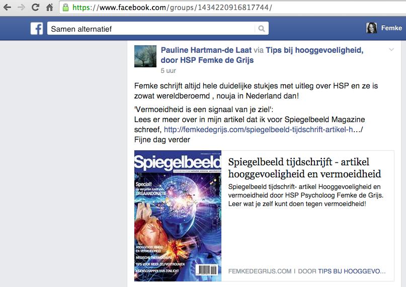 reactie naar aanleiding van Spiegelbeeld Magazine artikel door Femke de Grijs