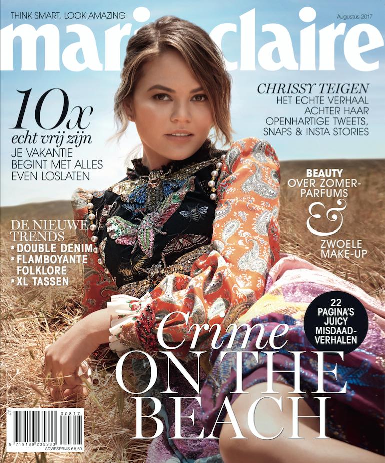 Marie Claire cover, waar Femke de Grijs in staat met een interview over haar litteken