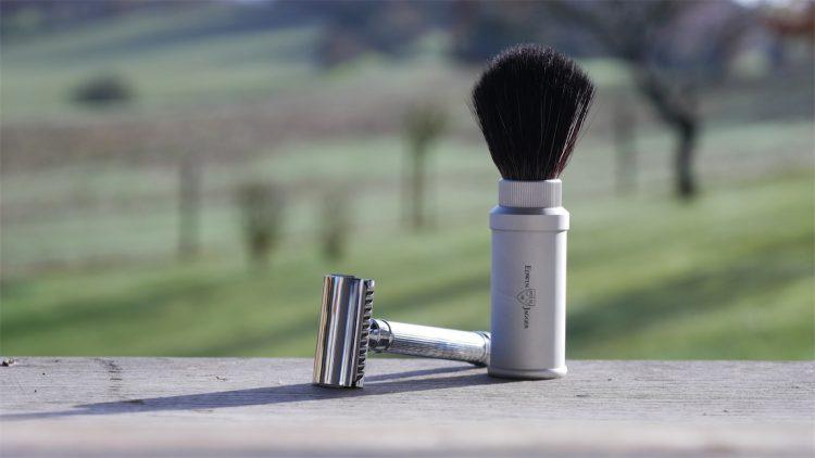 safety razor met scheerkwast