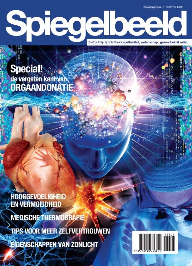 Spiegelbeeld Magazine mei 2013 cover met de tekst: hooggevoeligheid en vermoeidheid