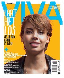 cover van het tijdschrift Viva met de tekst: laat het los, op je bek gaan is goed