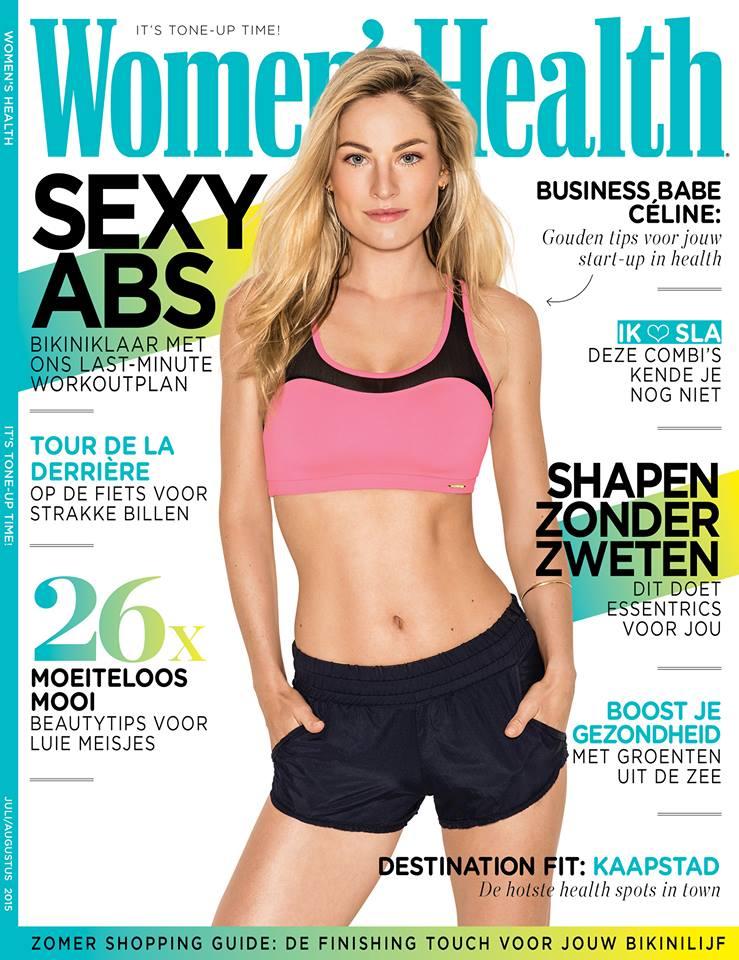 Women's Health cover, waarin het artikel over fijngevoeligheid staat met Femke de Grijs